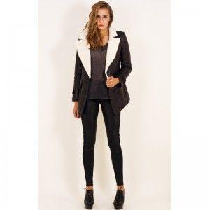 Черная дубленка - красива и практичная одежда