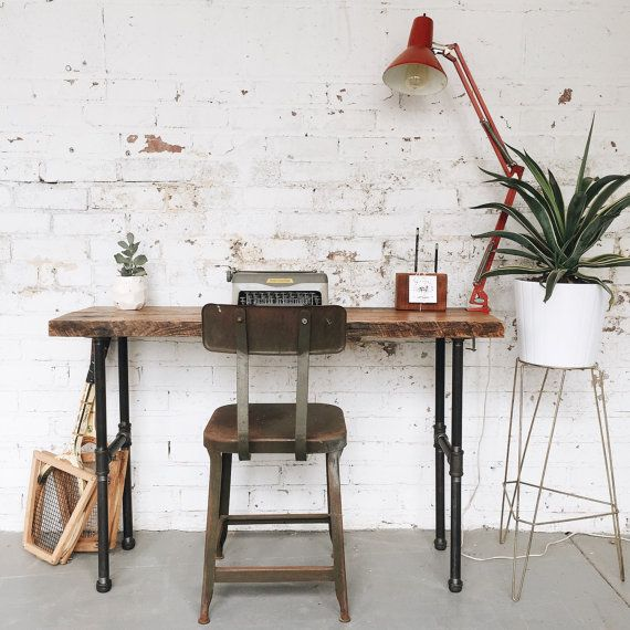 Make A Bold Statement With This Console Table Or Writing Desk Made From  Reclaimed Wood,