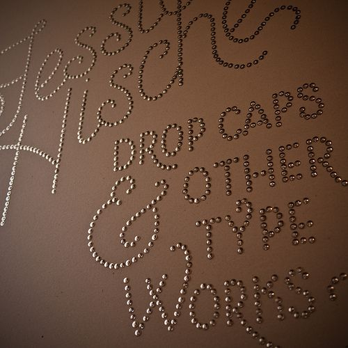 So cool! typography done with thumbtacks
