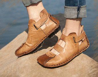 Zapatos hechos a mano para las mujeres zapatos sandalia por HerHis