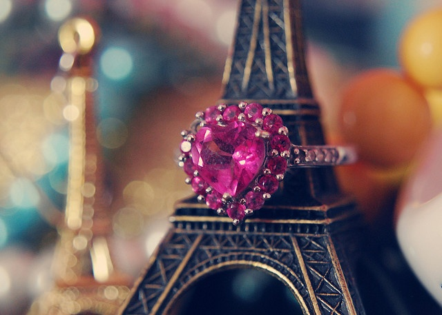 ♥: Paris, Heart, Eiffel Towers, Rings, Pink, Pretty, Photo