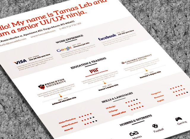 82 best Resume Templates   Plantillas images on Pinterest Free - cool free resume templates