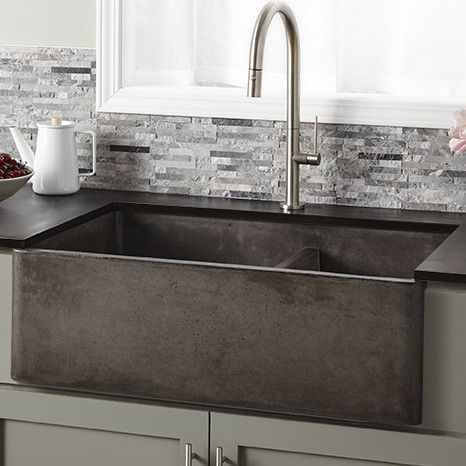 "Native Trails Farmhouse 33"" x 21"" Double Bowl Kitchen Sink"