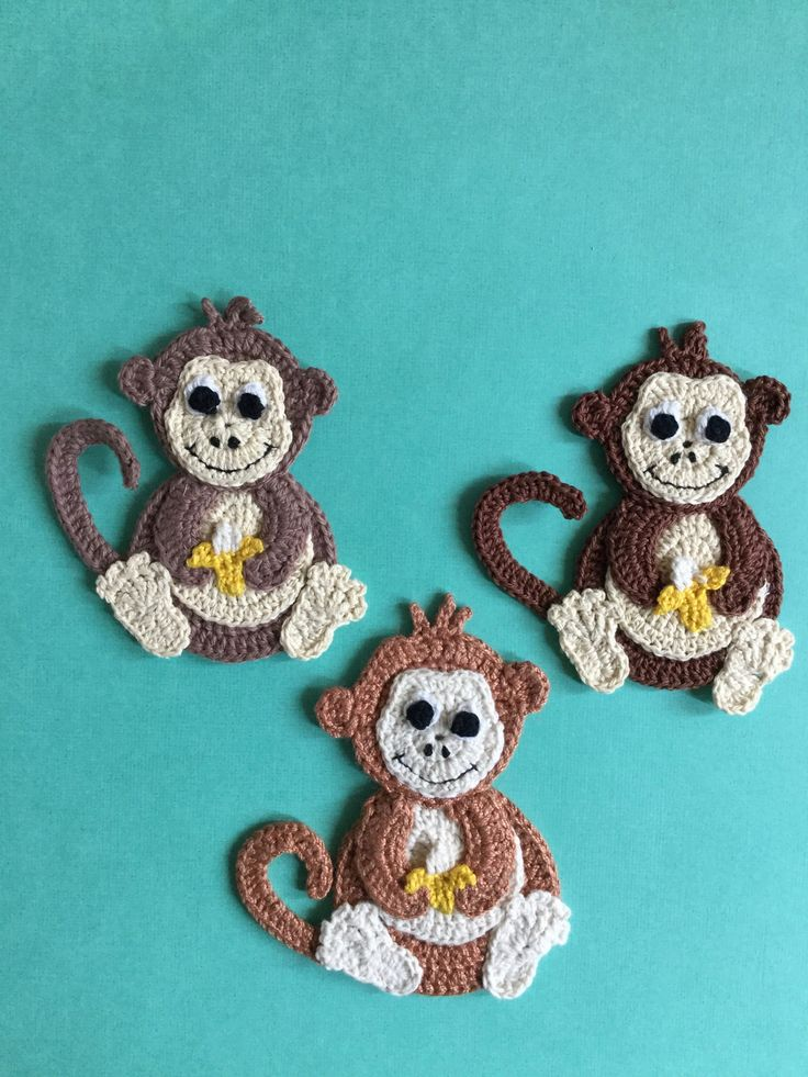 Free Monkey Appliqué Crochet Pattern.