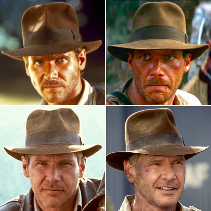 Indiana Jones I, II, III, and IV -- Fedora Comparisons