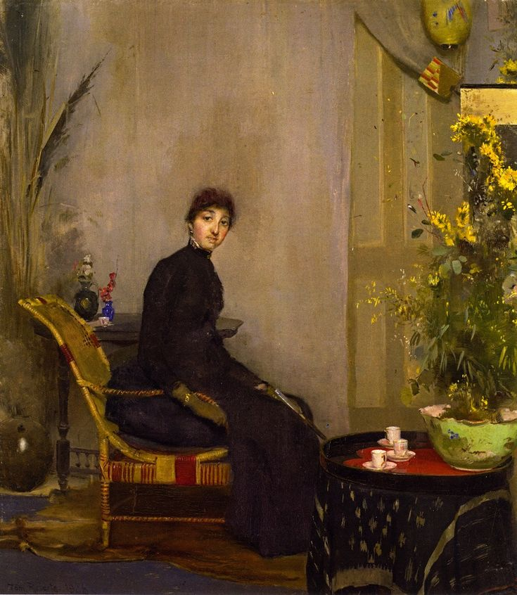 Mrs. L. Abrahams by Tom Roberts. Painted in Melbourne, 1888. National Gallery Victoria, Melbourne. Purchased 1946.