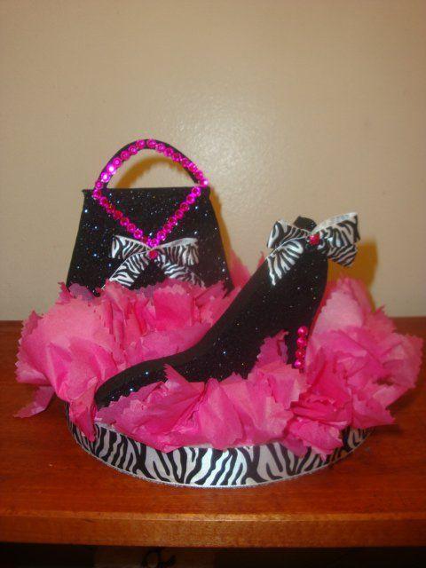shoe and purse centerpieces
