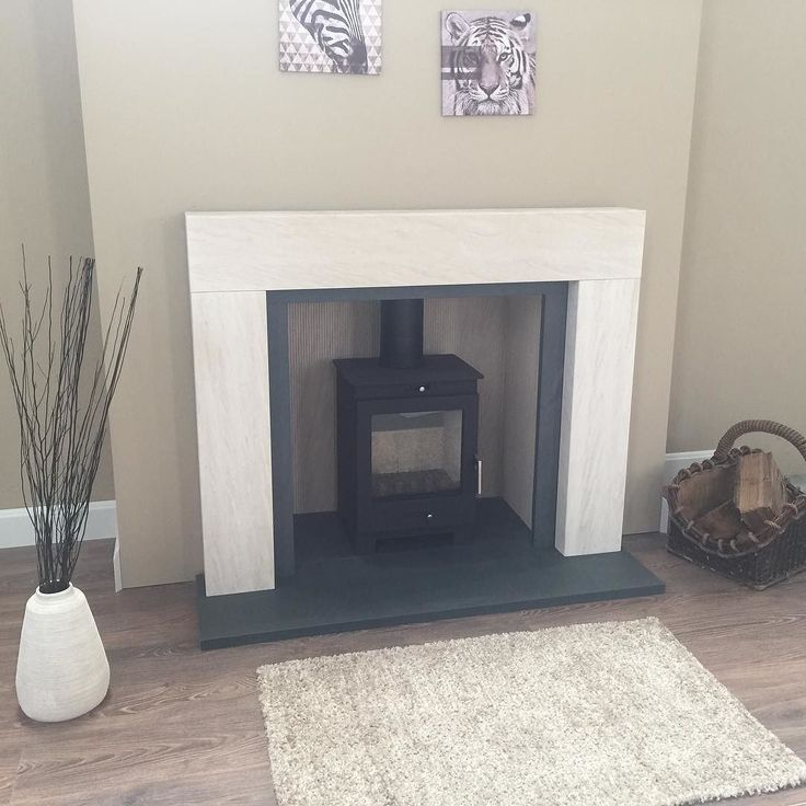 Another New Package From Directstoves Com Full Package Complete With Slate Heaths And Slips And Reeded Limestone Chambe New Stove Wood Burning Stove Fireplace