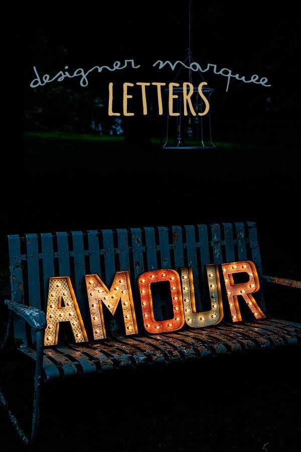 designer marquee letters