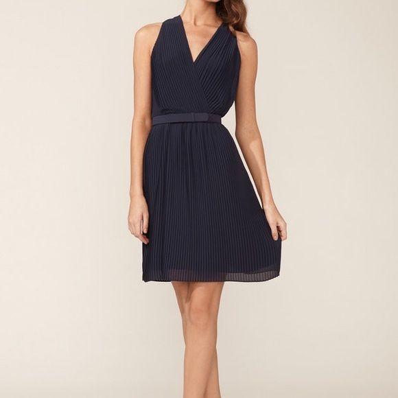 Halston Heritage Dresses - Halston Heritage Pleated Wrap Bodice Dress