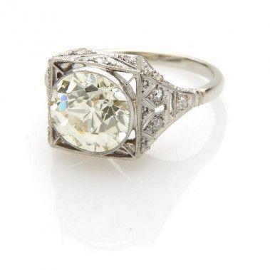 Pierścionek, Nr. ID 2064 platyna, diament - Desa Biżuteria