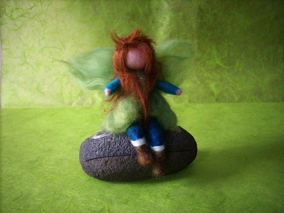 Needle felted Elf  inspired by fairy tales by RaduraIncantata, €17.00