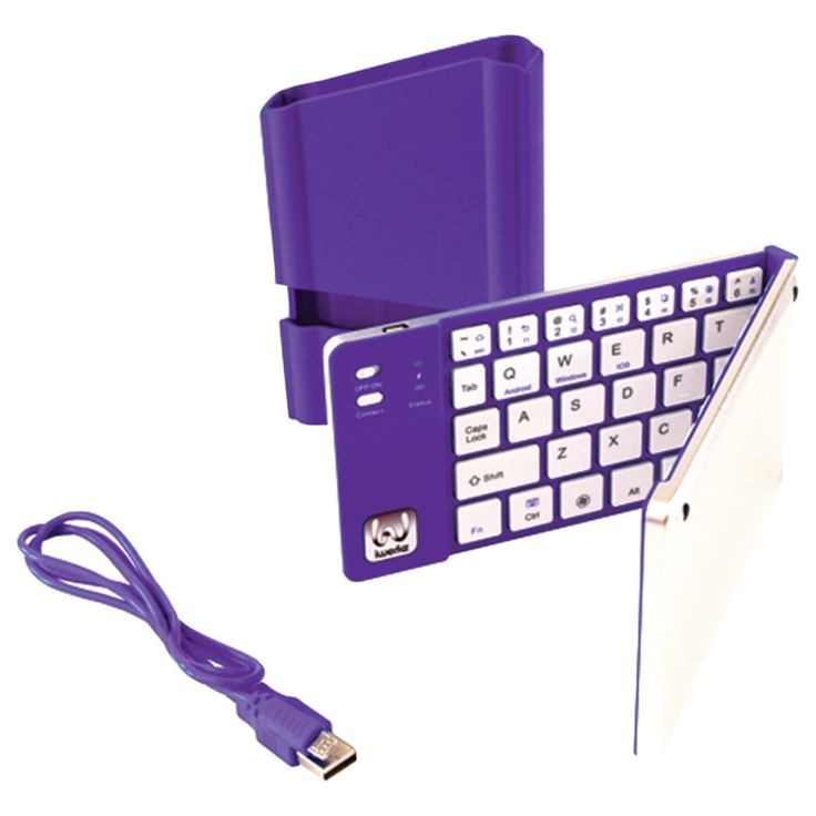 This Foldable Bluetooth Keyboard features universal compatibility. It will work with bluetooth enabled devices. You can use it with your ipad or phone.