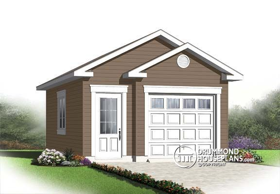 Garage plan W2992 16 small garage plan for 1 car Cute style