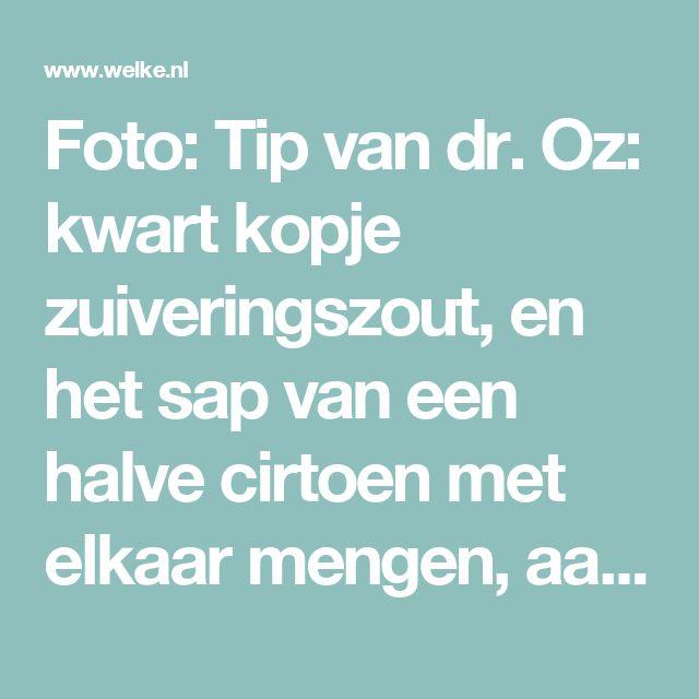 Foto: Tip van dr. Oz: kwart kopje zuiveringszout, en het sap van een halve cirtoen met elkaar mengen, aanbrengen met een wattenstaafje. Even laten zitten (niet langer dan een minuut), daarnaar goed je tanden poetsen om de resten te verwijderen.. Geplaatst door Nathalie72 op Welke.nl
