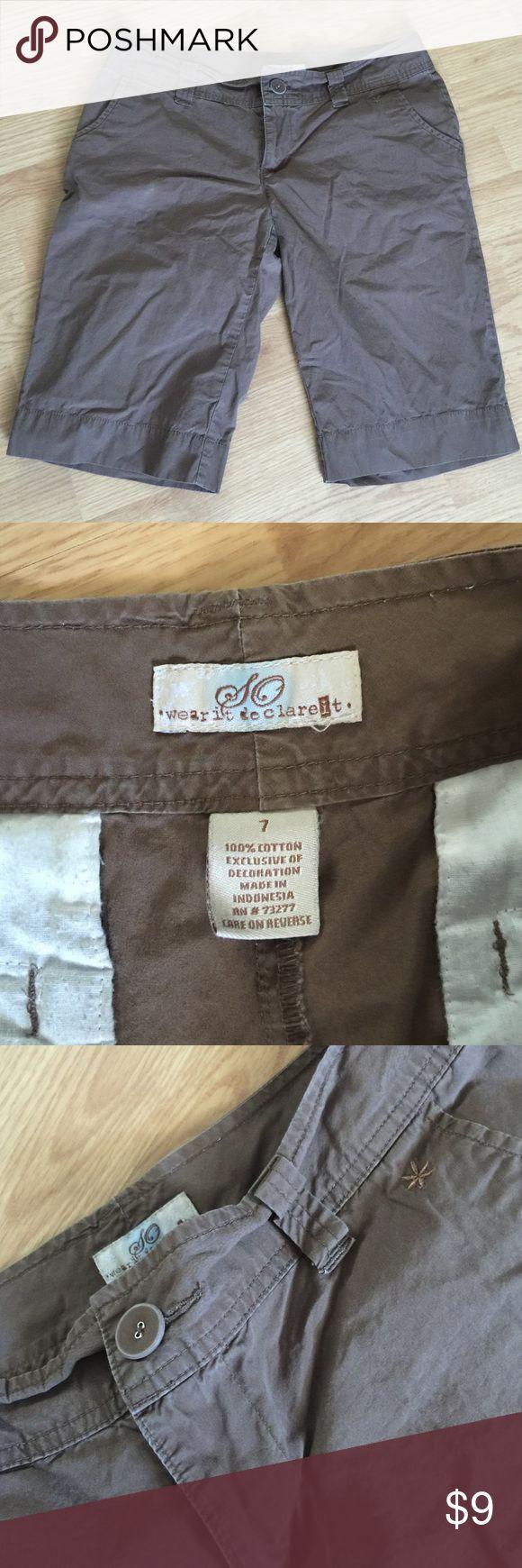 Women's brown shorts size 7 100% cotton Women's brown shorts size 7 100% cotton SO Shorts Cargos
