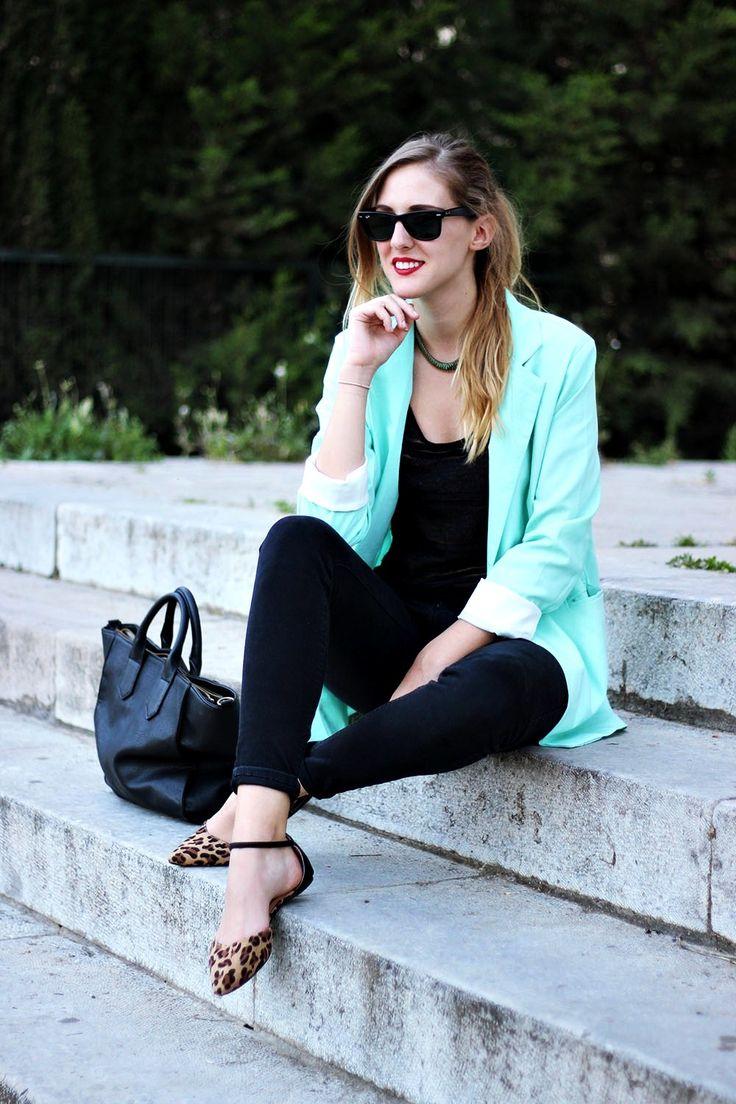 Mint blazer | DearDiary-fashion