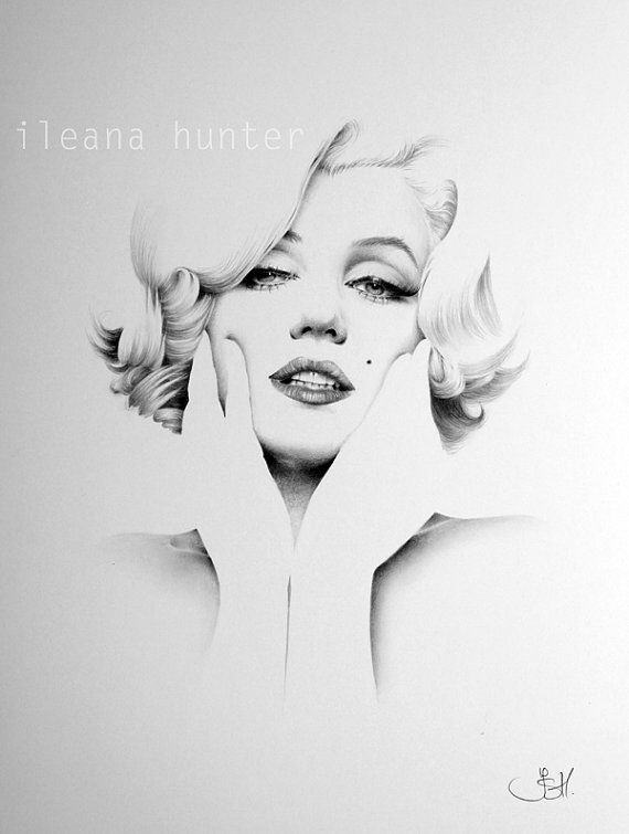 Marilyn Monroe Pencil Drawing Fine Art Signed Print