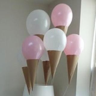 Ice cream cone balloons ice cream sundae themed party pinterest ice cream cones and birthdays