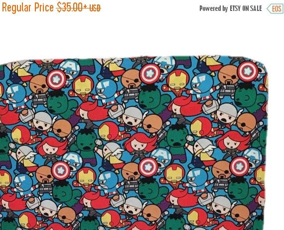 A personal favorite from my Etsy shop https://www.etsy.com/listing/489992677/sale-toddler-boy-bedding-blue-superhero