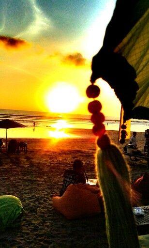 Love sunset at kuta beach bali