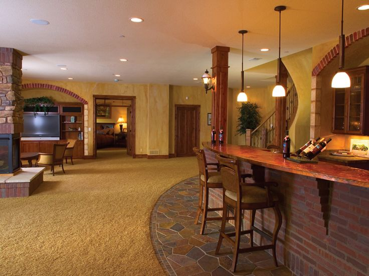 Basements house plans and mountain home plans on pinterest for Mountain house plans with basement