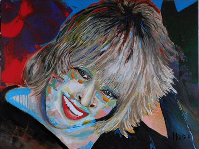 Tina Turner: by holger acrylic on canvas