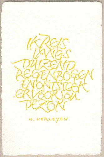 Wenskaarten staand formaat - Papierschepperij Piet Moerman - ontwerp Yves Leterme