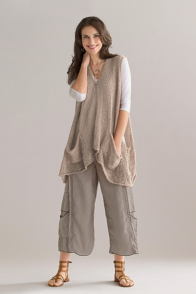 """Vector Vest"" Knit Sweater by Amy Brill on Artful Home"
