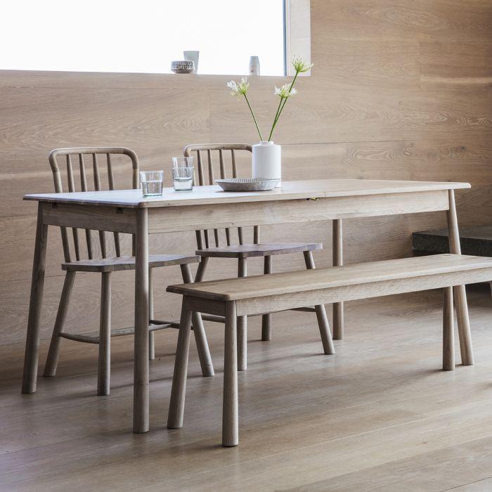 Pavilion Chic Extendable Dining Table Nordic In Oak Pavilion