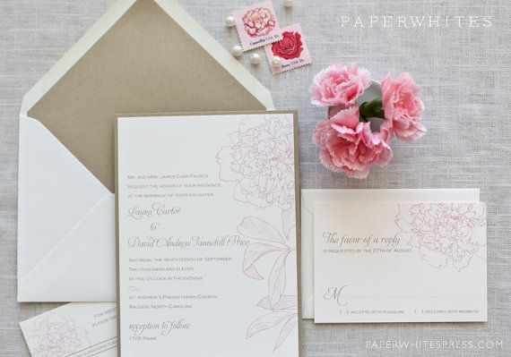 Peony wedding invitations!