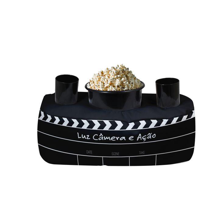 Almofada Pipoca  Luz, Câmera e Ação; Tamanho : 42x24x20; Material : Trancoso