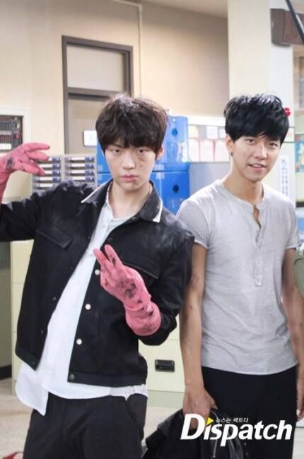 Ahn Jae Hyun and Lee Seung Gi BTS You're All Surrounded