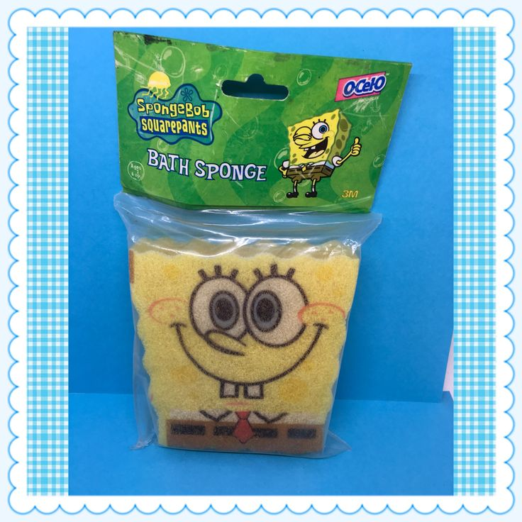 SpongeBob SquarePants Bath Sponge UNOPENED Nickelodeon c. 2003