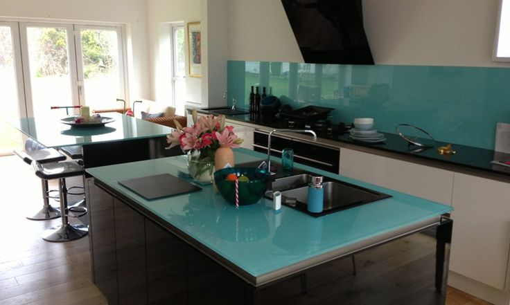 Glass Worktops - Contemporary Kitchens