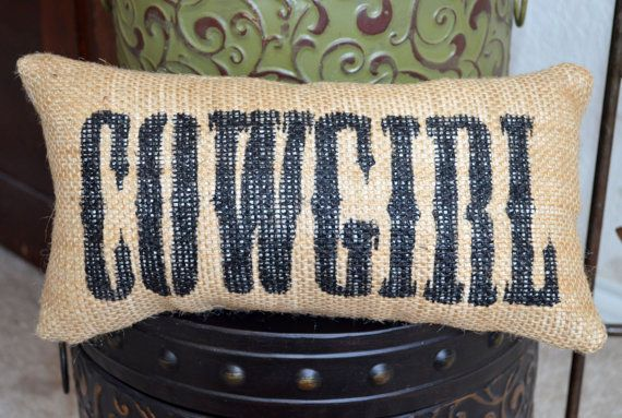 little cowgirl bedroom decoration | Cowgirl Western Burlap Pillow Home Decoration - We Do Custom Pillows ...