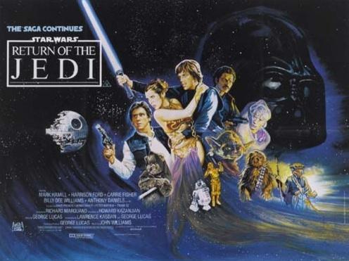 1983 Return Of The Jedi Original British Film Poster. £400 at Vintage Seekers.