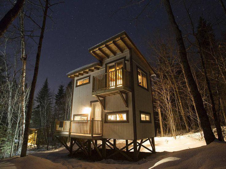 Une Cabane d'ici à Chalets Lanaudière, Rawdon, Québec.