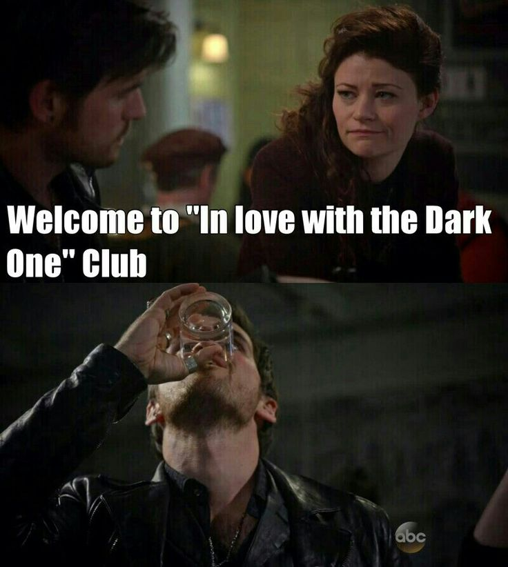 Funny, Not Funny. Once Upon A Time, In Love With 'The Dark One' Club.