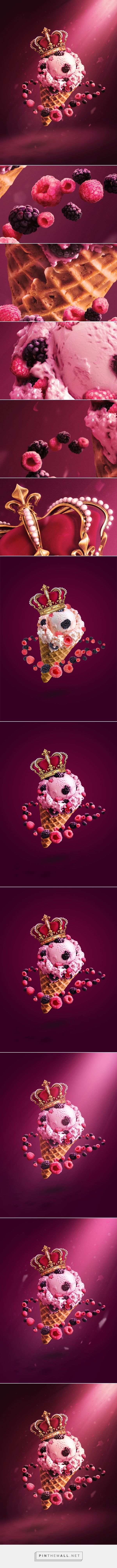 Ice cream Royale on Behance - created via http://pinthemall.net