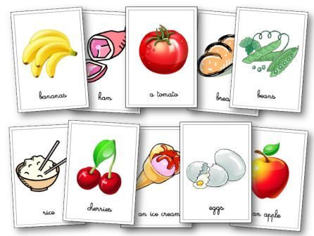 Flashcards nourriture anglais anglais pinterest for Anglais vocabulaire cuisine