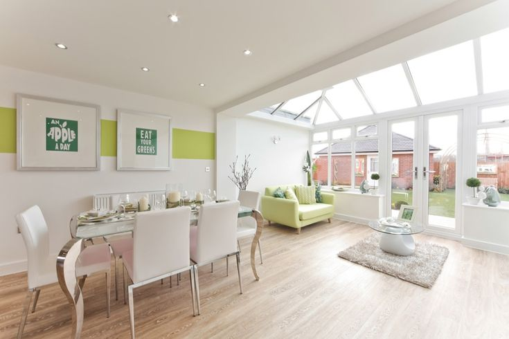 A typical taylor wimpey dining area garden room kitchen for Dining room extension ideas