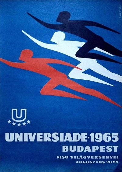 Universiade (Gáll Gyula, 1965. - 70 x 50 cm) - $120 at Budapest Poster Gallery's Shop
