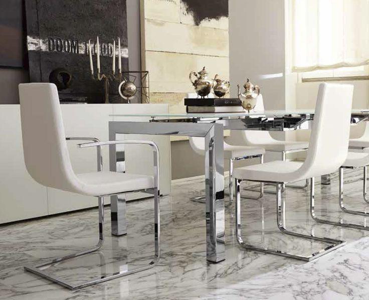 Nowoczesne włoskie stoły szklane rozkładane AirPort