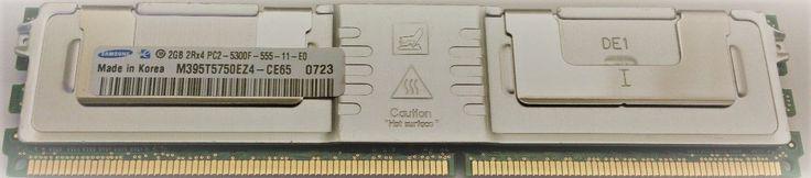 4GB Lot 2 Samsung 2GB PC2-5300F ECC Buffered DDR2 667MHz Server DIMM HP Dell IBM