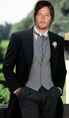 Norman Reedus in a tux. Yes.