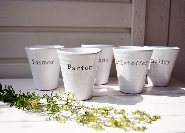Name cups Muggar m.m. - personligt porslin