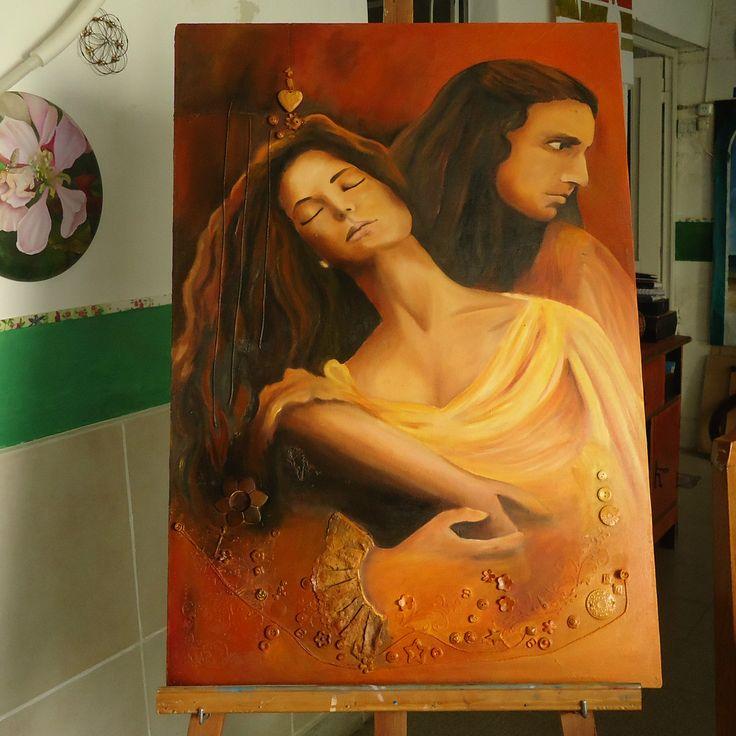 pintura en oleo,foto de película.