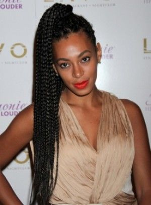 long Box Braids with color | think I REALLY want box braids.....
