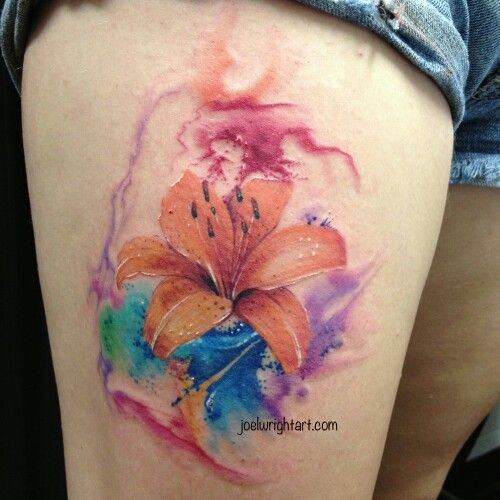 Watercolor hibiscus tattoo tattoos pinterest for Do airbrush tattoos come off in water